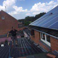 reinigen zonnepanelen met osmosewater